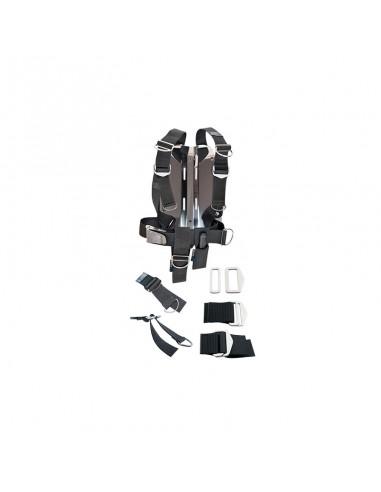 Dirzone Set Placa Acero 6mm + Arnes Ajustable