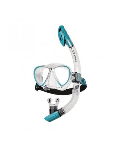 Scubapro Kit Mascara Sinergy Twin Turquesa / Transparente