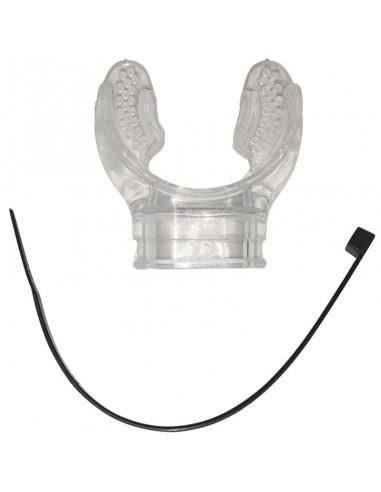 Scubapro Boquilla HF Supercomfort Transparente con brida