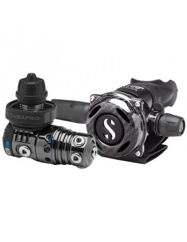 Scubapro Conjunto MK25 Evo Din / A700 Carbon Black Tech