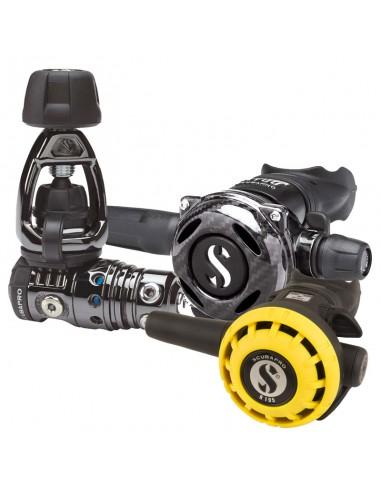 Scubapro Conjunto MK25 Evo Int / A700 Carbon Black Tech / R195