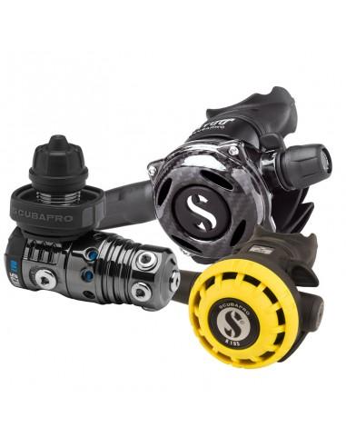 Scubapro Conjunto MK25 Evo Din / A700 Carbon Black Tech / R195