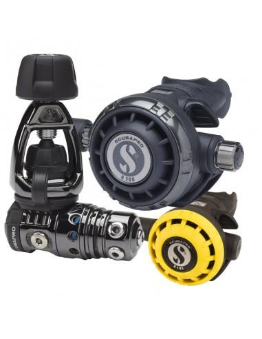 Scubapro Conjunto MK25 Evo Black Tech Int / G260 Black Tech / R195