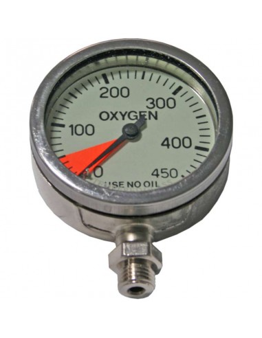 Dirzone Manómetro 63mm 360bar Níquel Oxígeno