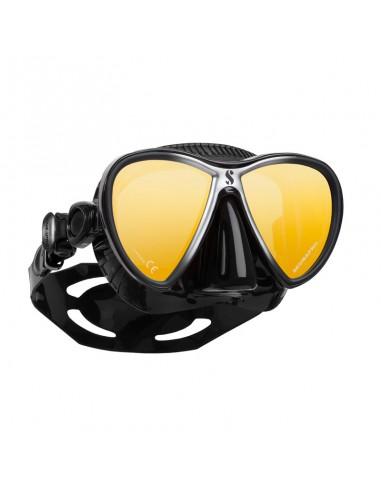 Scubapro Mascara Sinergy Twin Trufit Negro / Negro Lentes Espejo